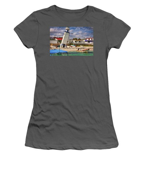 Leaning Lighthouse Women's T-Shirt (Athletic Fit)