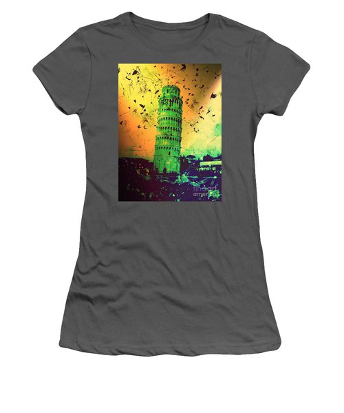Leaning Tower Of Pisa 32 Women's T-Shirt (Athletic Fit)