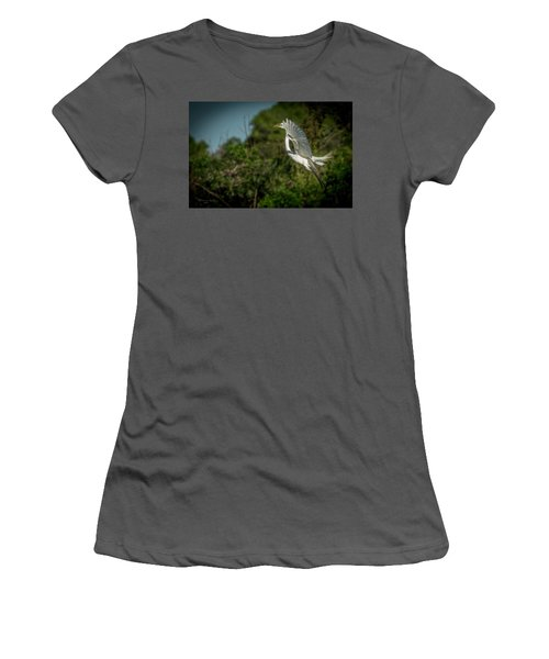 Women's T-Shirt (Junior Cut) featuring the photograph Leap Of Faith by Marvin Spates