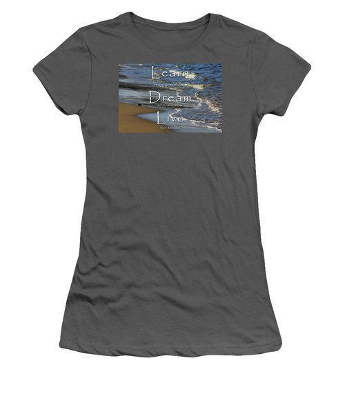Learn, Dream, Live Women's T-Shirt (Athletic Fit)