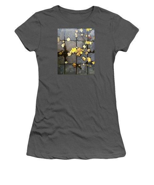 Leaves On Slate Women's T-Shirt (Junior Cut) by Suzanne Lorenz