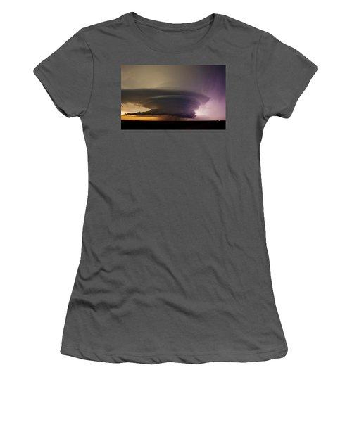 Leoti, Ks Supercell Women's T-Shirt (Junior Cut) by Ed Sweeney