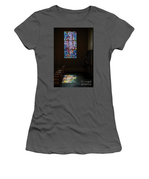 Women's T-Shirt (Junior Cut) featuring the photograph Let There Be Coloured Light... by Nina Stavlund