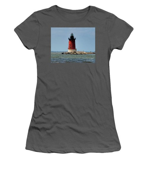Lewes Lighthouse Women's T-Shirt (Athletic Fit)
