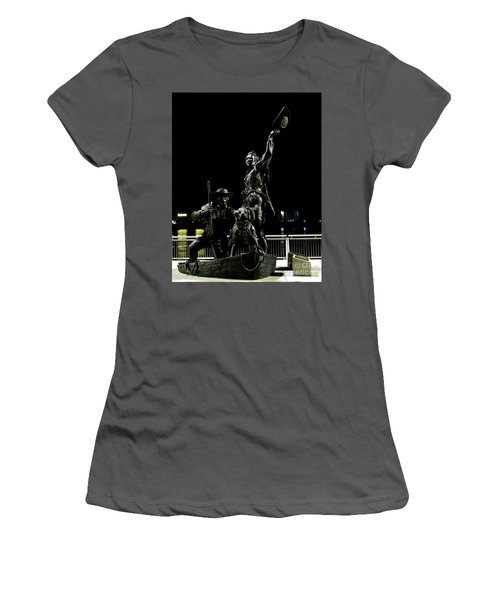 Lewis And Clark Arrive At Laclede's Landing Women's T-Shirt (Athletic Fit)