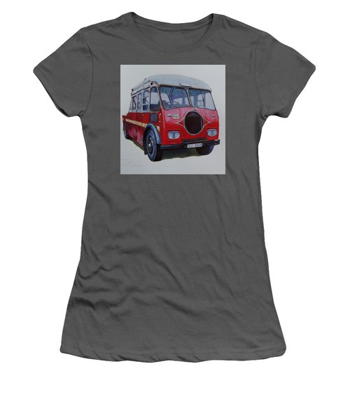 Women's T-Shirt (Junior Cut) featuring the painting Leyland Wrecker Cie by Mike Jeffries