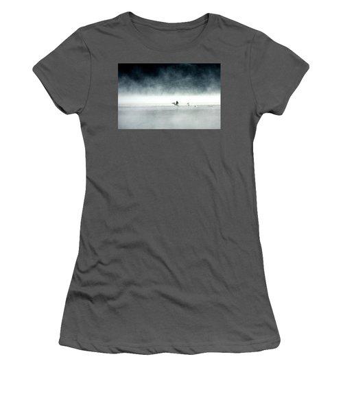 Women's T-Shirt (Junior Cut) featuring the photograph Lift-off by Brian N Duram