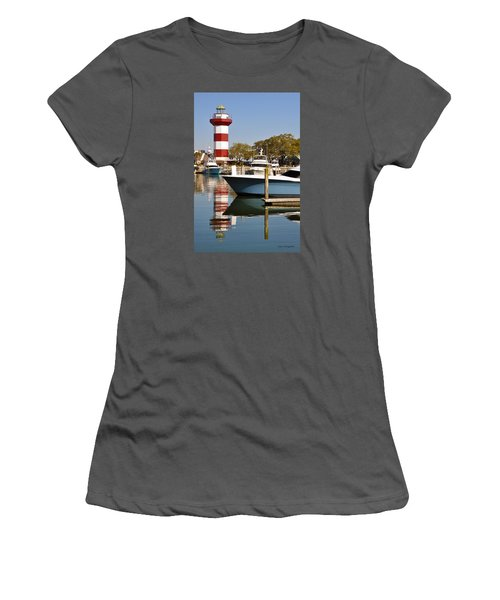 Light In The Harbor Women's T-Shirt (Junior Cut) by Kay Lovingood