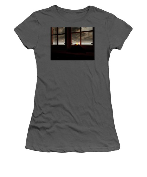 Light In The Window Women's T-Shirt (Athletic Fit)