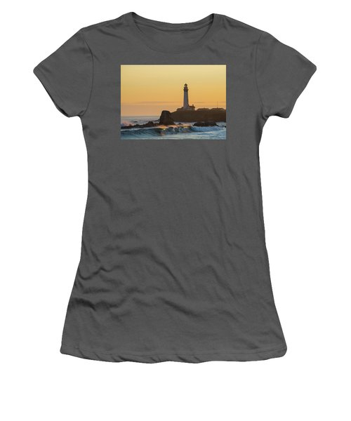Women's T-Shirt (Athletic Fit) featuring the photograph Light On The Waves by Alex Lapidus