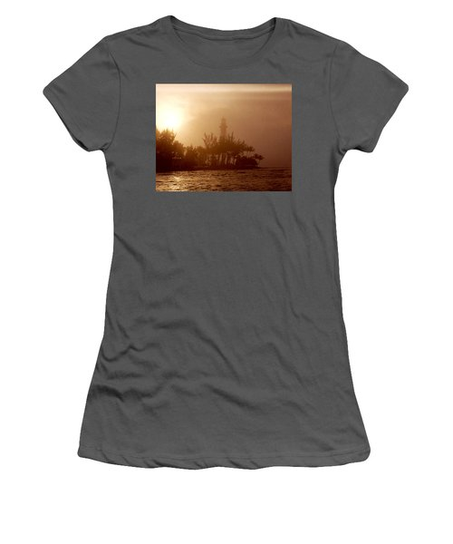 Lighthouse Point Sunrise Women's T-Shirt (Athletic Fit)