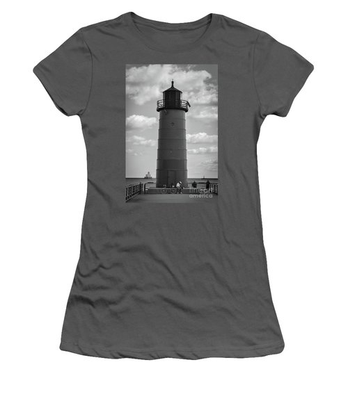 Lighthouses Of Milwaukee Women's T-Shirt (Athletic Fit)