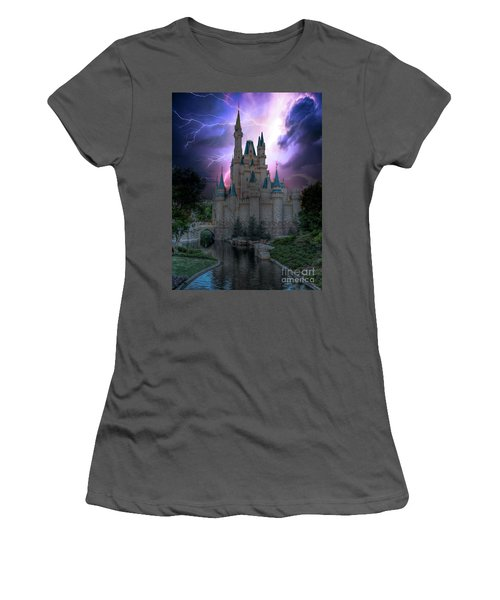 Lighting Over The Castle Women's T-Shirt (Athletic Fit)