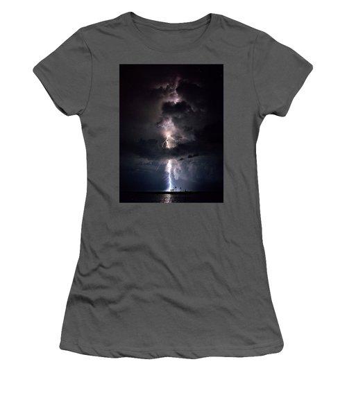 Women's T-Shirt (Junior Cut) featuring the photograph Lightning by Richard Zentner