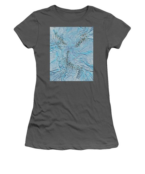 Women's T-Shirt (Junior Cut) featuring the mixed media Lilac Sunstones by Angela Stout
