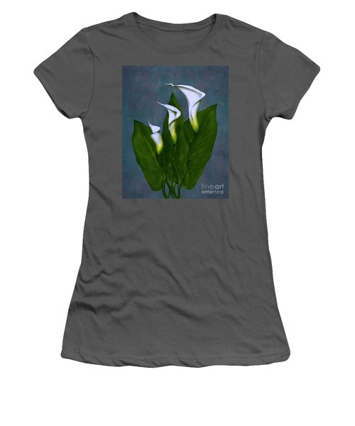 White Calla Lilies Women's T-Shirt (Junior Cut) by Peter Piatt