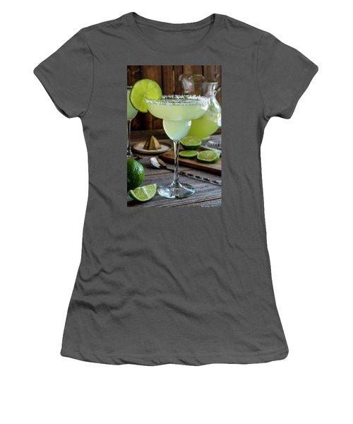 Women's T-Shirt (Junior Cut) featuring the photograph Lime Margaritas by Teri Virbickis