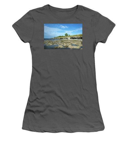 Women's T-Shirt (Athletic Fit) featuring the photograph Limestone Coast Patterns by Kennerth and Birgitta Kullman