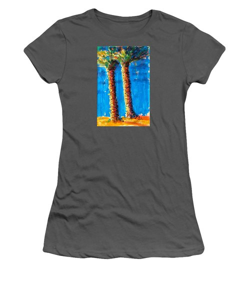 Lincoln Rd Date Palms Women's T-Shirt (Athletic Fit)
