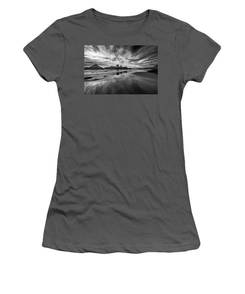 Lines In The Sand At Seal Rock Women's T-Shirt (Athletic Fit)