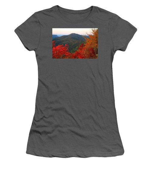 Women's T-Shirt (Junior Cut) featuring the photograph Linville Gorge by Kathryn Meyer