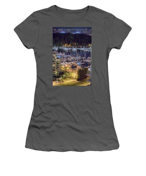 Lions Gate Bridge And Stanley Park Women's T-Shirt (Athletic Fit)