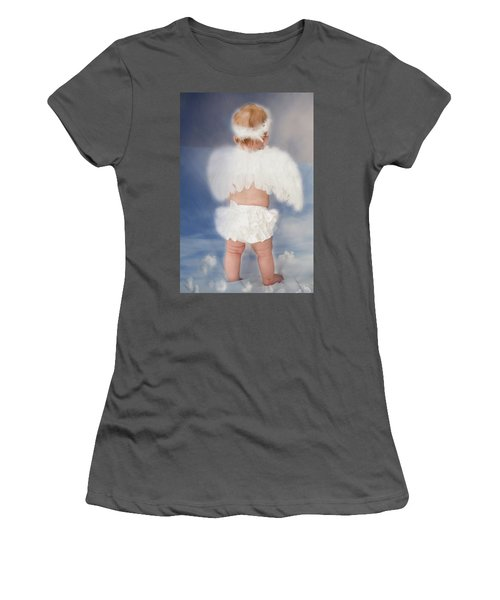 Women's T-Shirt (Junior Cut) featuring the photograph Little Angel by Linda Segerson