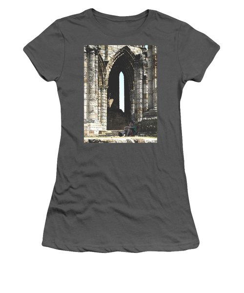 Little Boy Under The Arch Women's T-Shirt (Athletic Fit)