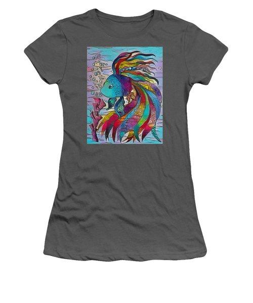 Little Fish 3 Women's T-Shirt (Athletic Fit)