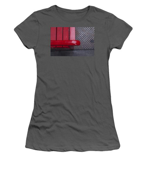 Little Red Bench Women's T-Shirt (Athletic Fit)