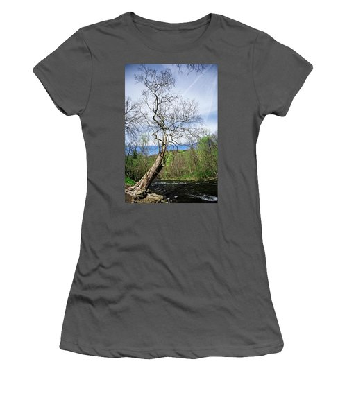 Women's T-Shirt (Athletic Fit) featuring the photograph Little River by Alan Raasch