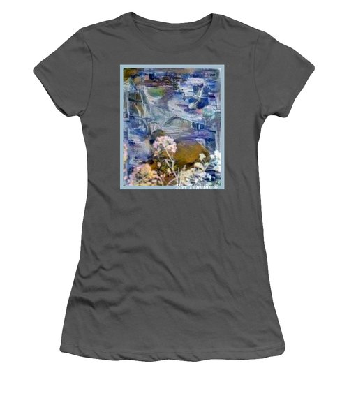 Women's T-Shirt (Junior Cut) featuring the mixed media Living It by Ray Tapajna