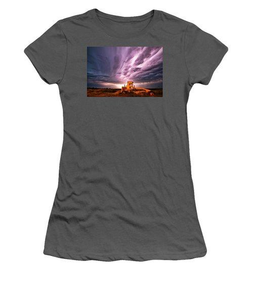 Living Sky In Nebraska Women's T-Shirt (Athletic Fit)