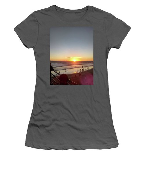 Women's T-Shirt (Athletic Fit) featuring the photograph living the Beach Dream by Aaron Martens