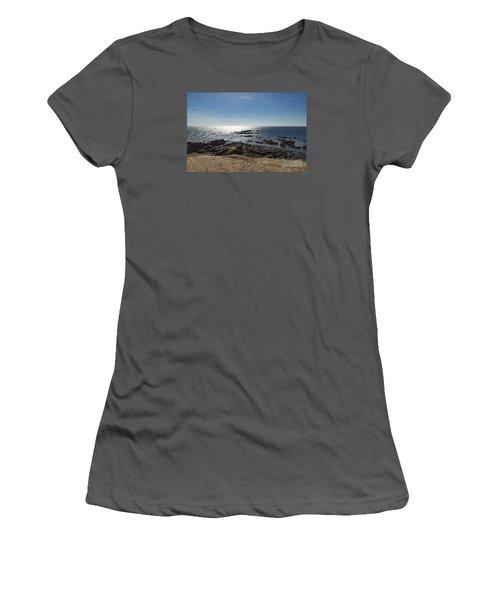 Lizard Point Cornwall Women's T-Shirt (Junior Cut) by Brian Roscorla