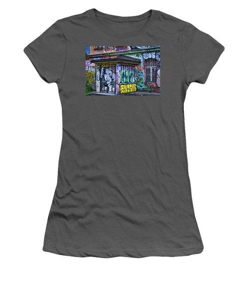 Women's T-Shirt (Athletic Fit) featuring the photograph Ljubljana Grafitti #2 - Slovenia by Stuart Litoff