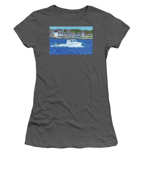 Lobster Boat And Bug Light Women's T-Shirt (Athletic Fit)