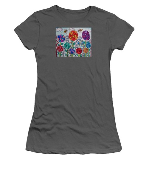 Lollipop Garden Women's T-Shirt (Athletic Fit)
