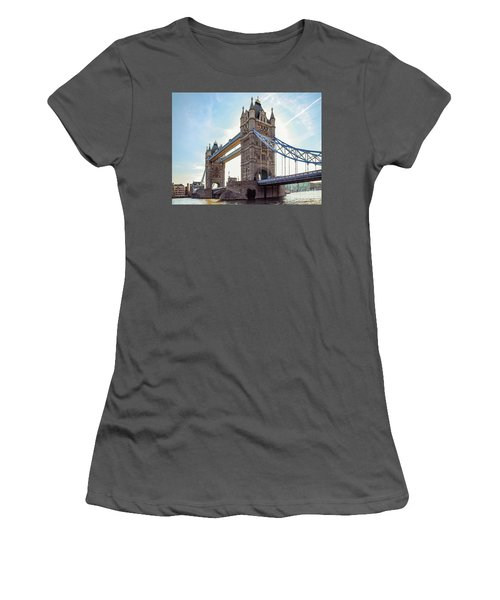 Women's T-Shirt (Junior Cut) featuring the photograph London - The Majestic Tower Bridge by Hannes Cmarits