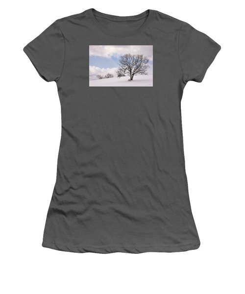 Lone Tree In Snow Women's T-Shirt (Junior Cut) by Betty Denise