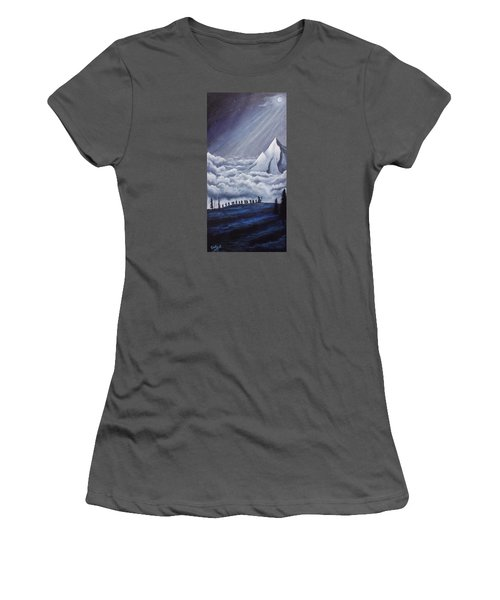 Lonely Mountain Women's T-Shirt (Junior Cut) by Dan Wagner
