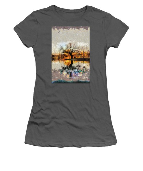 Lonely Tree And Its Thoughts Women's T-Shirt (Athletic Fit)