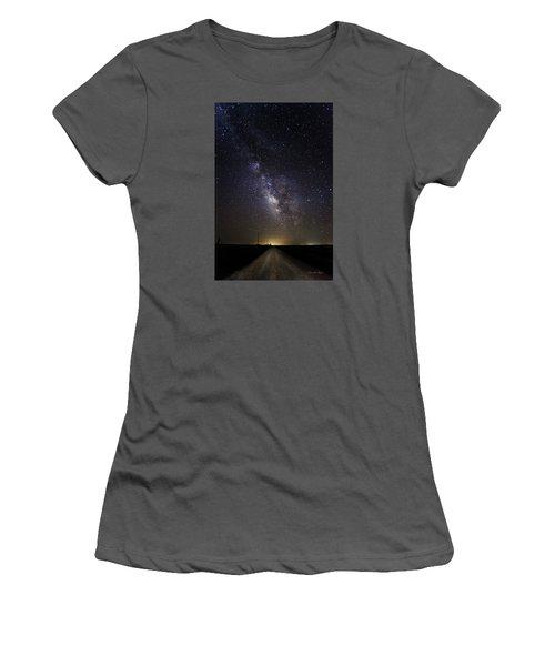 Women's T-Shirt (Junior Cut) featuring the photograph Long Road To Eden by Karen Slagle