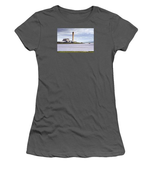 Women's T-Shirt (Junior Cut) featuring the photograph Longannet Power Station by Jeremy Lavender Photography