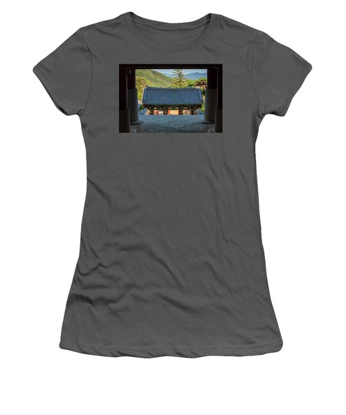 Looking Outward Women's T-Shirt (Athletic Fit)