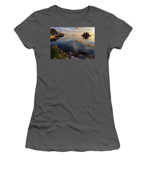 Women's T-Shirt (Junior Cut) featuring the photograph Lookout Point, Harpswell, Maine  -99044-990477 by John Bald