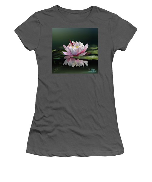 Lotus Meditation Women's T-Shirt (Athletic Fit)
