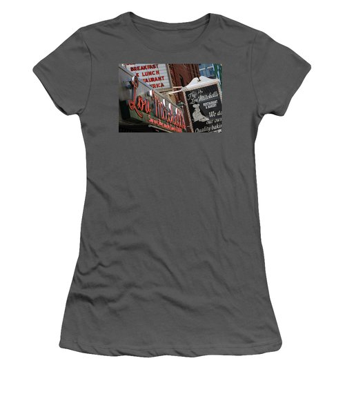 Lou Mitchells Restaurant And Bakery Chicago Women's T-Shirt (Athletic Fit)