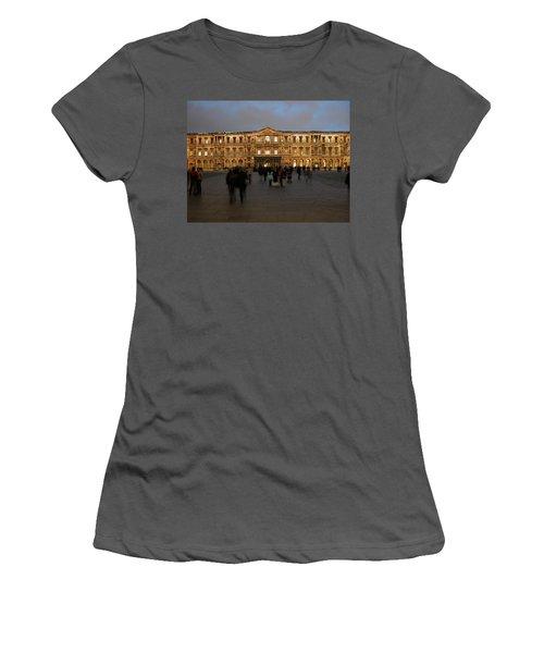 Women's T-Shirt (Junior Cut) featuring the photograph Louvre Palace, Cour Carree by Mark Czerniec
