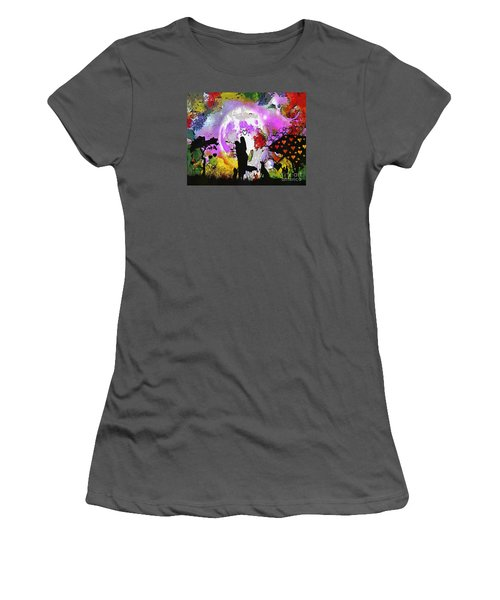 Love Family And Friendship In The Mix Women's T-Shirt (Junior Cut) by Catherine Lott